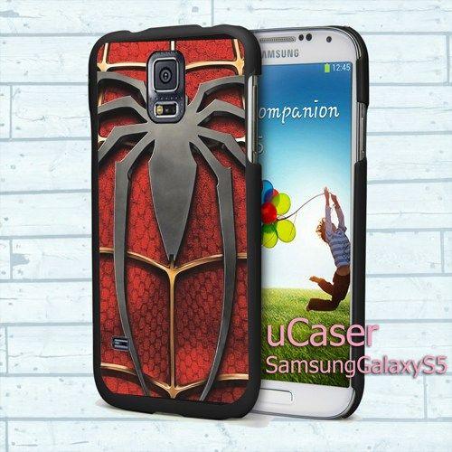 "Spiderman Logo For Samsung Galaxy S5 5.1"" screen Black Case"