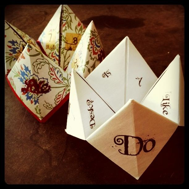DIY wedding ideasWedding Tables, Diy Ideas, Fortuneteller, Wedding Favors, Fortune Teller, Wedding Games, Wedding Ideas, Weddingideas, Diy Wedding