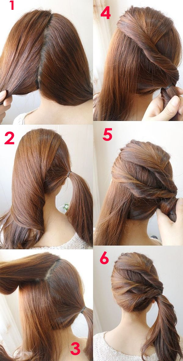 Admirable 1000 Ideas About Easy Side Updo On Pinterest Black And Grey Short Hairstyles Gunalazisus