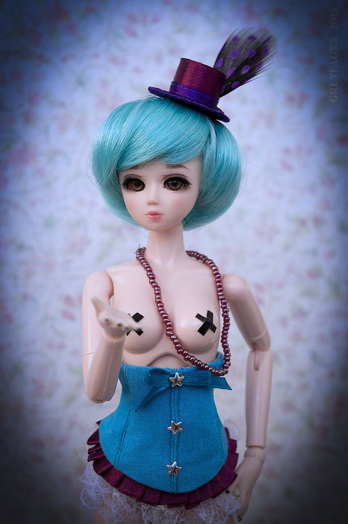 https://flic.kr/p/tohkjn | 'Burlesque' Eve | Obitsu 27 cm body, Nano-gretel head