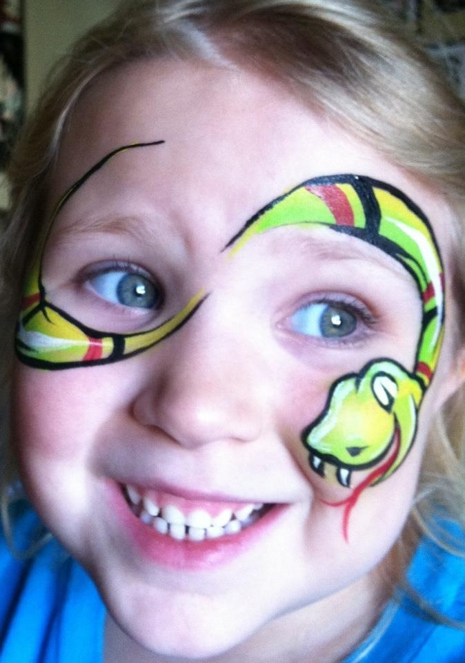 Snake Face Painting Tutorial