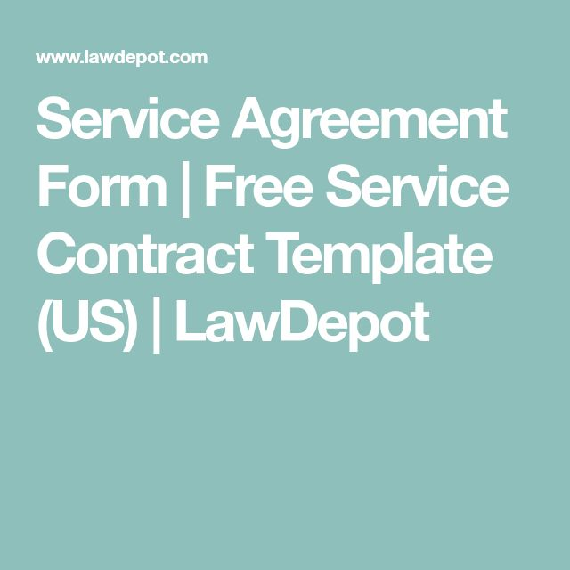 Service Agreement Form | Free Service Contract Template (US) | LawDepot