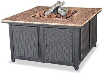 Blue Rhino Patio Heater GAD1200B by Blue Rhino. $940.30. 40,000 BTUs. Solid Granite Mantel. Hidden Control Panel. Porcelain Steel Bowl. Removable Side Panels. Blue Rhino Patio Heater GAD1200B. BTUs: 40,000 BTU. Gas Type: Liquid Propane. Control Panel: Hidden. Ignition: Electronic. Solid Granite Mantel: Yes. Porcelain Steel Bowl: Yes. Removable Panels: Yes. Protective Cover: Included. Lava Rocks: Included. Log: Included. LP Tank: Not Included. Warranty: 1 Year. Overall Widt...