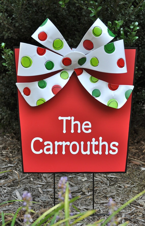 Wonderful Love It :) Check Out Tree Frog Creations On Etsy! Christmas GardenOutdoor ChristmasChristmas  SignsMerry ...
