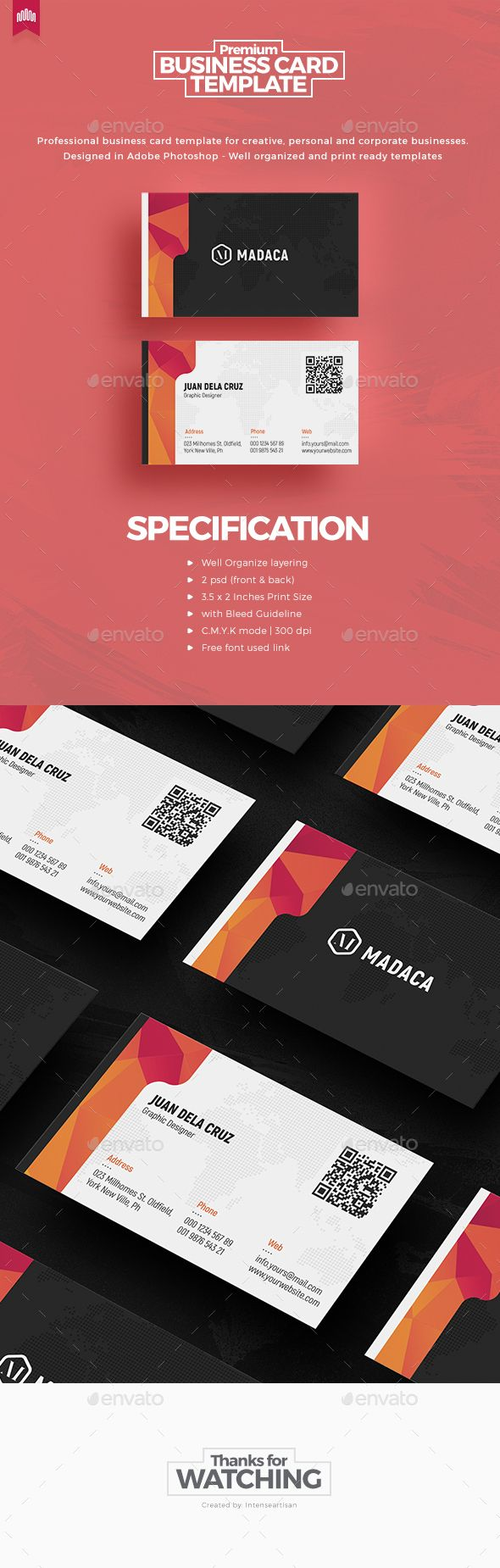 Creative - Pro #Business #Card v.7 - Creative Business Cards Download here: https://graphicriver.net/item/creative-pro-business-card-v7/20081223?ref=alena994