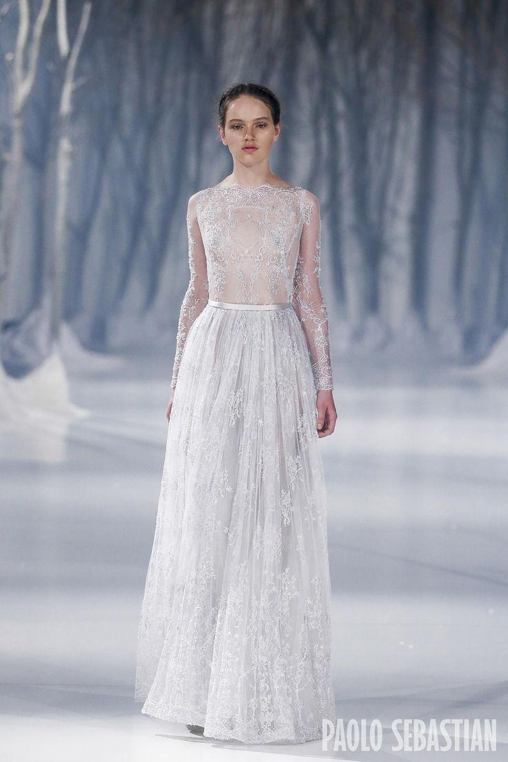 Giuliana rancic 2014 oscars paolo sebastian dress - Paolo Sebastian 2016 A W Couture The Snow Maiden
