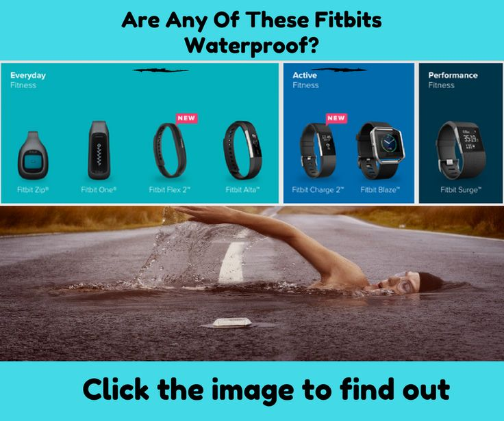 Is The Fitbit Waterproof?   This is a question we get often, is the Fitbit waterproof? Please keep in mind that there are several different Fitbit models to choose from. Find out which ones are waterproof at https://fitwatchesforwomen.com/is-the-fitbit-waterproof