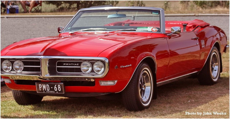 1968 Pontiac Red Firebird