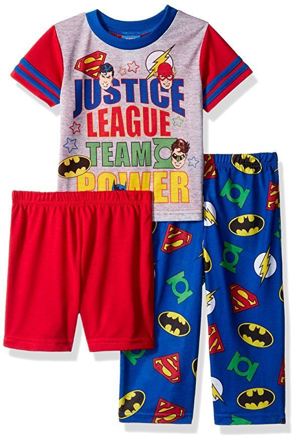 Komar Kids Justice League Characters Boys 2 Piece Pajama Set