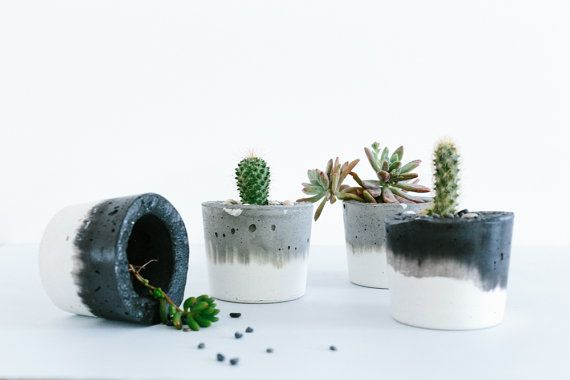 Concrete Planter Small / Candle Holder от foxandramona на Etsy