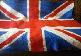 union jack Great Britain British flag crochet afghan pattern