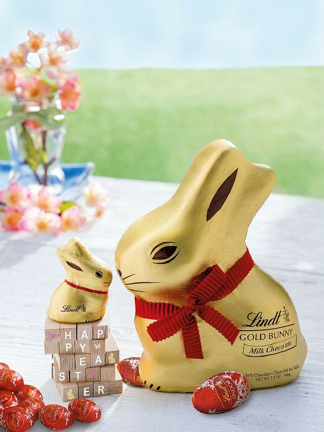 Have a Sweet Easter with Lindt GOLD BUNNY and LINDOR Eggs!...so cute big bunny and little bunny.