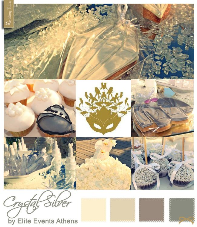 Wedding Moodboard - Crystal Silver by Elite Events Athens | See more at WeddingTales.gr | http://weddingtales.gr/index.php?id=1201