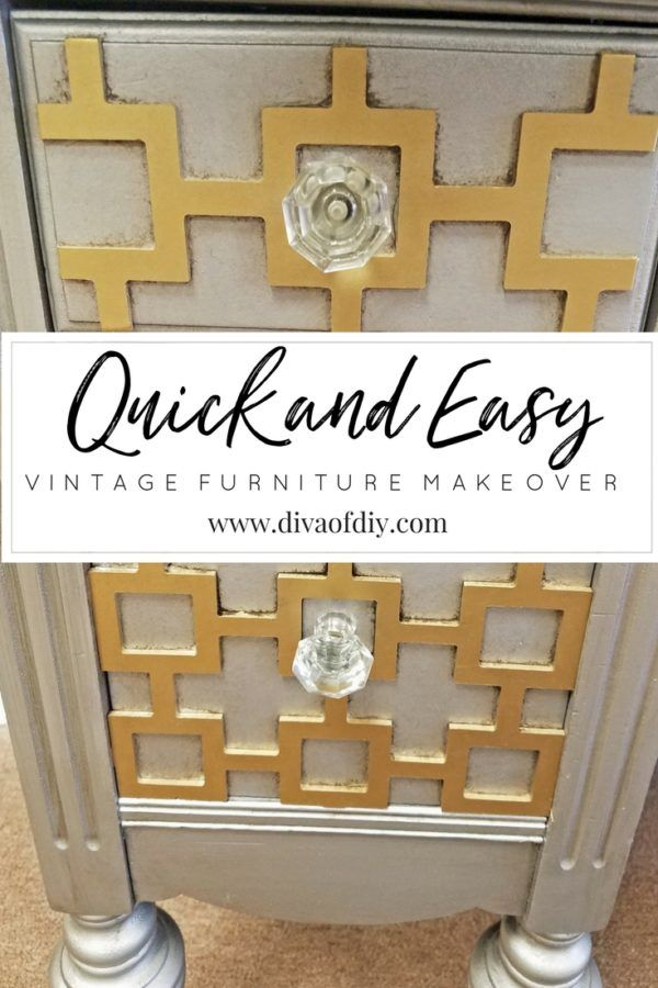 Create a one of a kind piece of furniture by combining a garage sale find and O'verlay's decorative fretwork.  See how I transformed a $10 desk into a beautiful piece of furniture. http://divaofdiy.com/quick-and-easy-vintage-furniture-makeover/?utm_campaign=coschedule&utm_source=pinterest&utm_medium=Diva%20of%20DIY%20%7C%20Tutorials%20For%20Your%20Favorite%20DIY%20Projects&utm_content=Quick%20and%20Easy%20Vintage%20Furniture%20Makeover