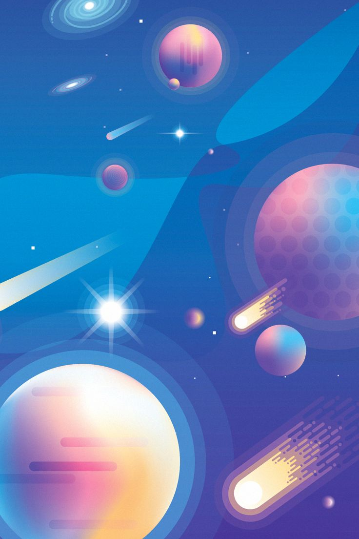 Vibrant Universe Creator Space Illustration Space Artwork Space Drawings