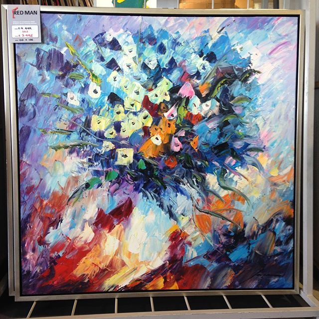 Art, painting, colour, flowers, wall décor, interior design,. abstract