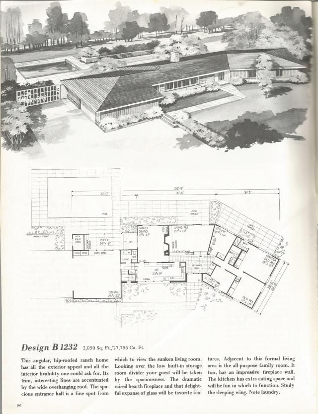Vintage House Plans  Mid Century Homes  Homes19 best Mid Century Blueprints and Home Design images on Pinterest  . Mid Century Modern Home Floor Plans. Home Design Ideas