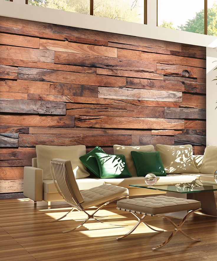 Look at this #zulilyfind! Reclaimed Wood Wall Mural by Brewster Home Fashions #zulilyfinds