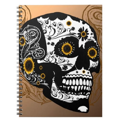 Skull Spiral Notebooks