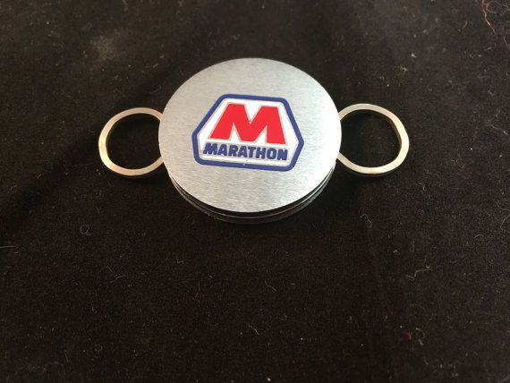 Vintage Marathon Oil Company Stainless Steel Key by Oldtonewjewels