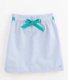 Girls Seersucker Margo Skirt - Badminton