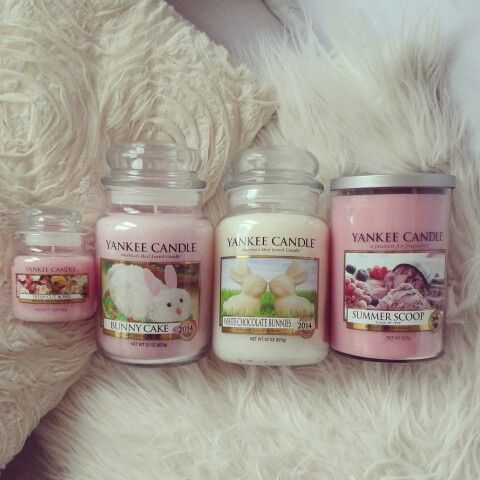 Yankee Candle - Fresh Cut Roses, Bunny Cake, White Chocolate Bunnies & Summer Scoop