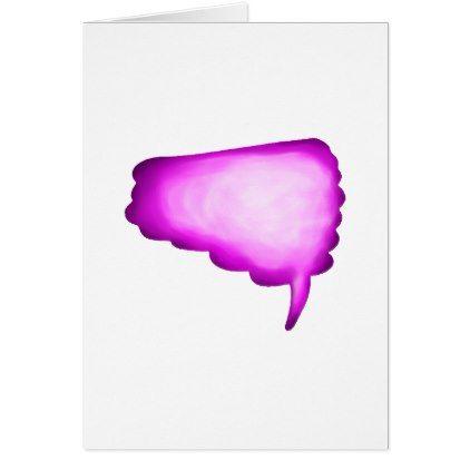 Pink Watercolor Word Bubble Card - personalize design idea new special custom diy or cyo
