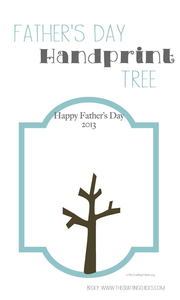 Print this tree and add the kids handprints. thecraftingchicks.com
