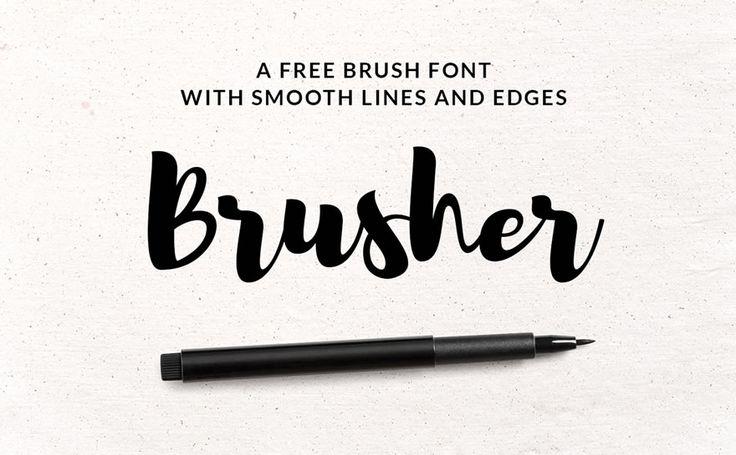 Brusher to bardzo efektowny, gruby skrypt dostępny za darmo dzięki serwisowi GraphicBurger. Nie ma niestety polskich znaków, ale i tak warto się nim zainteresować.
