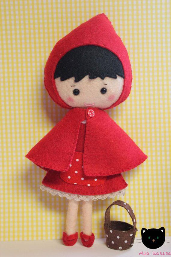 Red Hood felt doll by MiaGatita on Etsy
