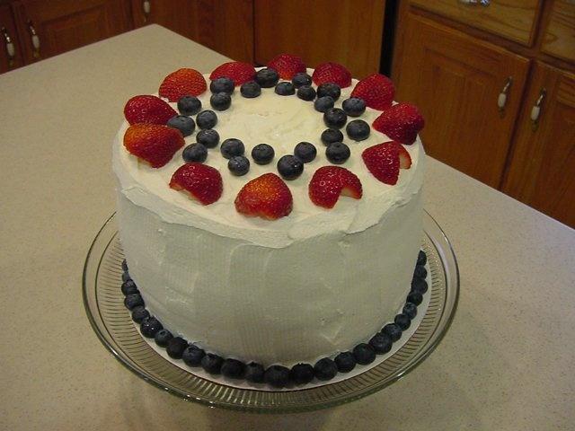 Red, White & Blue Velvet Cake | Sharon's Cakes | Pinterest