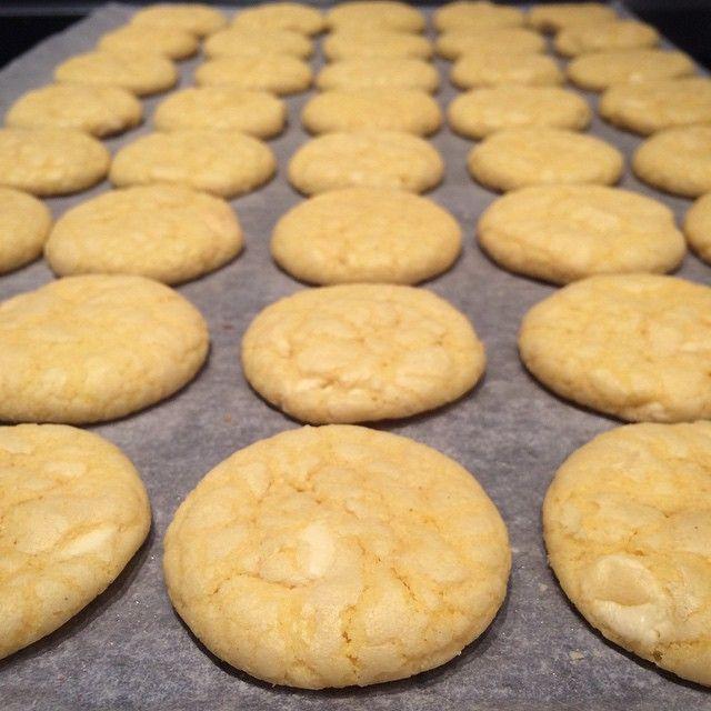Witte chocoladekoekjes #homemade #cookies