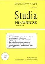 Wydawnictwo Naukowe Scholar :: :: 2006 STUDIA PRAWNICZE nr 1 UWAGA!!! Do kupienia WYŁĄCZNIE w PDFie