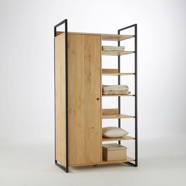 La Redoute Interieurs - Module penderie/6 étagères pin massif teinté, Hiba   La Redoute