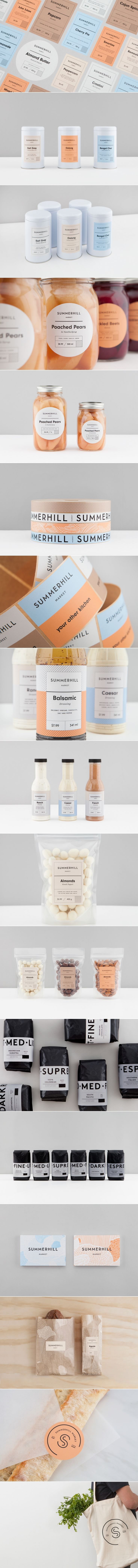 Summerhill Market's Fresh Contemporary Branding — The Dieline | Packaging & Branding Design & Innovation News