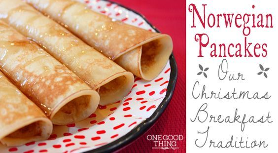 Norwegian Pancakes – A Christmas Morning Tradition these look like 49ers from walker bros in Chicago