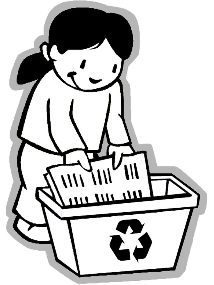 FREE Earth Day Coloring Page: Girl Recycling - Free printable Earth Day and Ecology coloring pages for kids from PrimaryGames. www.primarygames.com