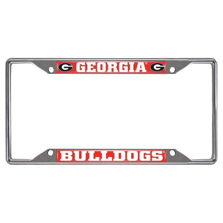 NCAA License Plate Frame University of Georgia