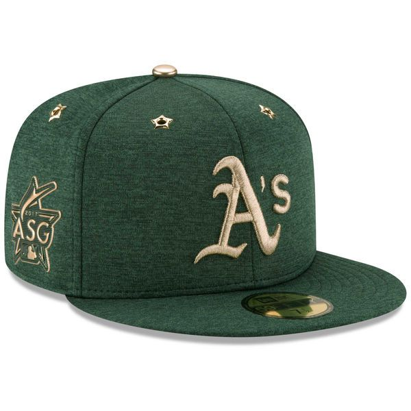 New Era Oakland Athletics Heathered Green 2017 MLB All-Star Game Side Patch 59FIFTY Fitted Hat
