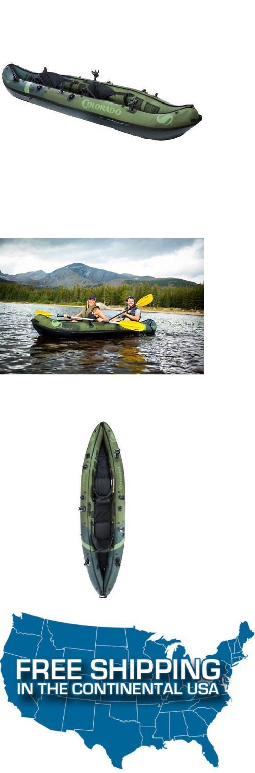 Canoes 23800: Sevylor Inflatable Kayak Colorado 2 Person Tandem Fishing Sit Canoe Sea Lake -> BUY IT NOW ONLY: $486.23 on eBay!