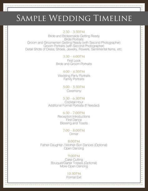 Best  Wedding Day Timeline Ideas On   Wedding Day