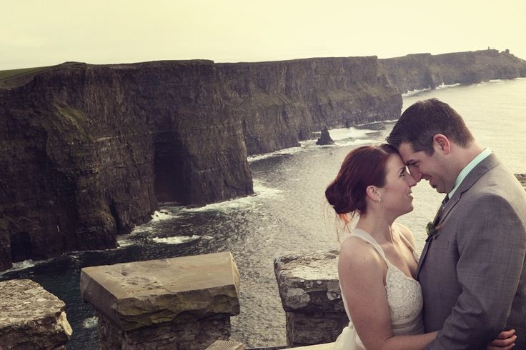 The couple at the Cliffs of Moher