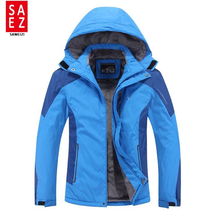 Plus Size men ski jacket men Mountain Thicken Plus fleece ski-wear waterproof hiking outdoor snowboard jacket snow jacket #Affiliate