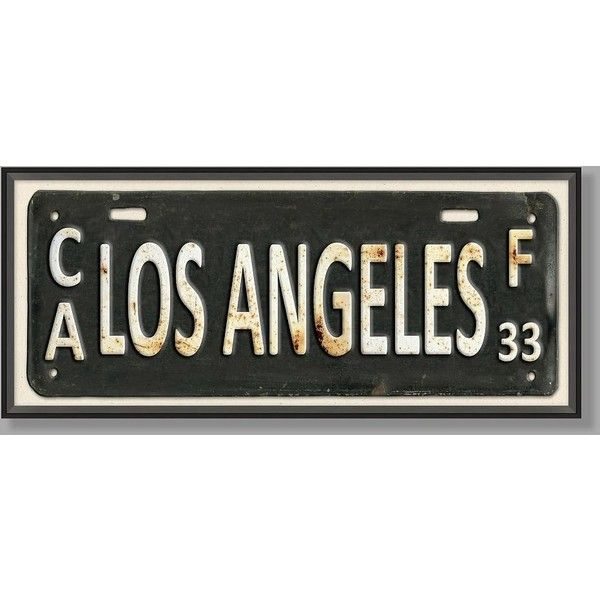 PB Teen Framed Los Angeles City Sign Print ($149) ❤ liked on Polyvore featuring home, home decor, wall art, los angeles wall art, pbteen, framed wall art, angel wall art and giclee wall art