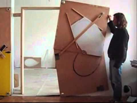 Vienna-based artist Klemens Torggler designs doors, except they don't feel like doors. They don't swing open or shut. Instead, you tickle them and they unfold. Part sculpture, part origami, Torggler's doors seem less like doors than optical illusions of geometry. It's enough to make every door you've ever seen appear just depressingly lifeless by comparison.