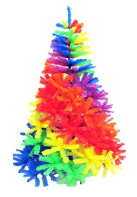 want a splash of color in your home this festive holiday well here is a multi colored rainbow christmas tree that comes in a rainbow effect that will amaze - Colored Christmas Trees