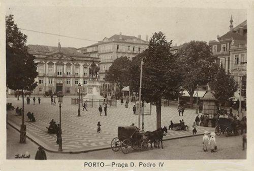 Praça D. Pedro V, Porto, no final do século XIX (actualmente Praça da Liberdade)