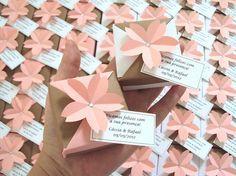 mini móbile || tsuru com caixinha e sakura * wedding - Sakura Origami & Acessórios