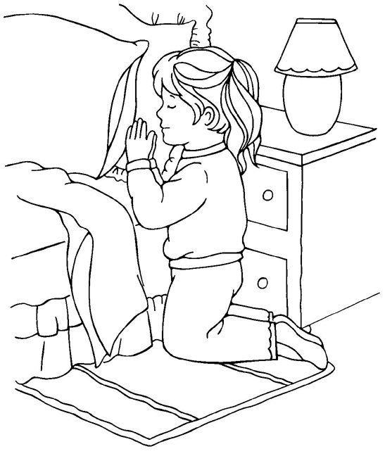 Prayer coloring page-girl. @ http://sermons4kids.com/praying-to-god-colorpg.htm