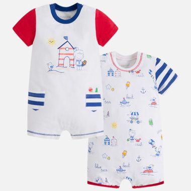 Chlapčenský set pyžamiek s krátkymi rukávmi Mayoral - Blue